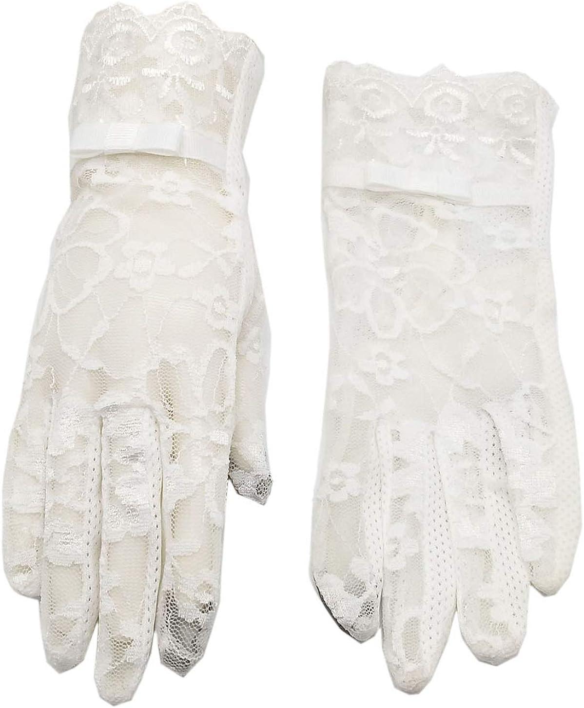 Biruil Womens Lace Gloves Screentouch Sun Uv Protection Tea Party Bridal Wedding Sport Mitten