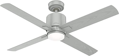 """discount Hunter Visalia Indoor / Outdoor Ceiling online Fan with LED Light and Remote Control, new arrival 52"""", Quartz Grey online sale"""