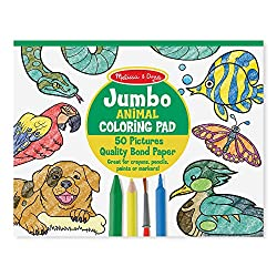 Multi Animals, Playtime Favorites Melissa /& Doug 93945 Foil Coloring Pad 2-Pack