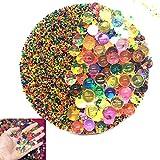 SPTwj Perlas de Suelo de Gel Bolas de Agua de Cristal Bolas de Agua para jarrón de Plantas Decoración de Relleno Suelo no tóxico Hidrogel Conjunto de Perlas de Agua Coloridas(Cerca de 35,000)