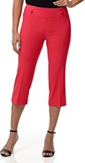 Rekucci Women's Ease in to Comfort Fit Capri with Button...