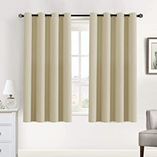 Blackout Curtains Thermal Insulated Curtains for Living Room Room Darkening Curtains for Bedroom, 52