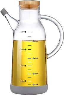 NORTHOME Olive Oil Dispenser Glass Bottle Cruet 25 oz Lead-Free with Stainless Steel lid and Vinegar Bottles for Kitchen C...