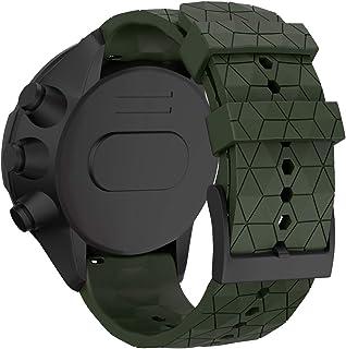 savvies Cristal Templado Compatible con Suunto Spartan Sport Wrist HR Baro Stealth Protector Pantalla Vidrio Proteccion 9H Pelicula Anti-Huellas