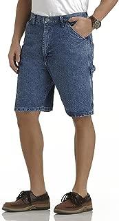 Wrangler Mens Premium Denim Carpenter Shorts (30 Dark Blue)
