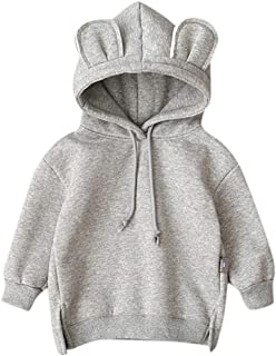 Fartido Kids Clothes Baby Boy Girl Hooded Cartoon 3D Ear Hoodie Sweatshirt
