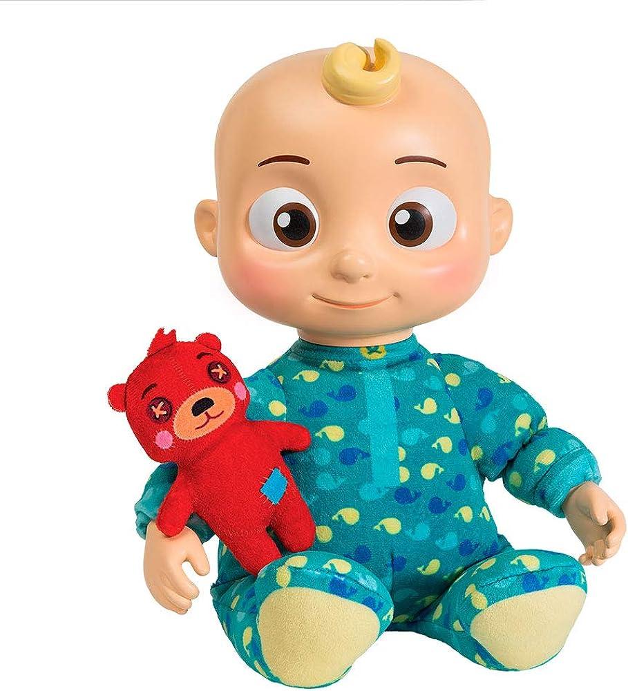 Cocomelon, bebè musicale jj, peluche/bambola da 30 cm,  che riproduce la canzone