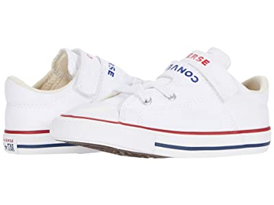 Converse Kids Chuck Taylor(r) All Star(r) Double Strap (Infant/Toddler) (White/University Red/Rush Blue) Kid