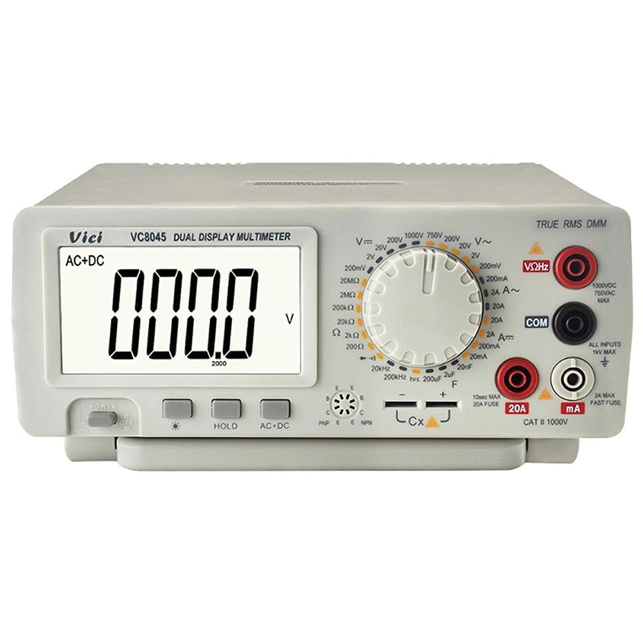 溶岩マルコポーロ寝る精密測定器 マルチメーター 4 1/2 真の実効値 正確な デスクトップマルチメーター テスター DCV/ACV/DCA/AC測定 VC8045 (Edition : EU Plug)