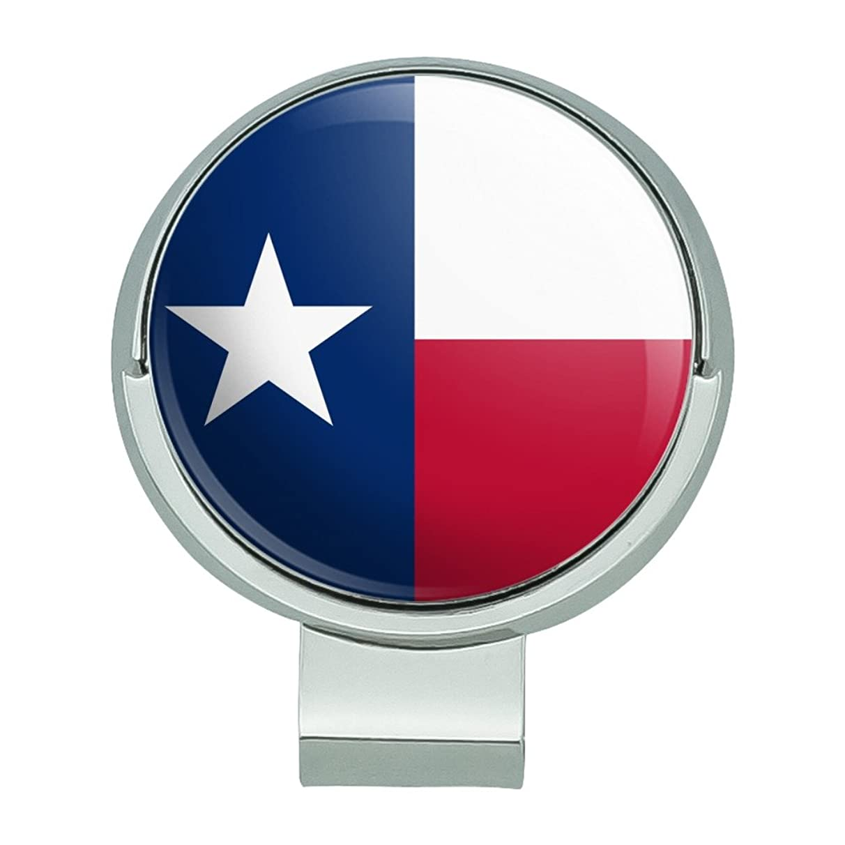 GRAPHICS & MORE Texas State Flag Golf Hat Clip with Magnetic Ball Marker