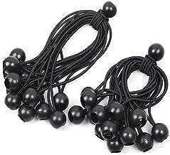 30 stuks spanrubbers met kogel, zwart, 12 cm + 18 cm, expanderlus, zeilspanners, tentelastieken, rubberen lussen met bal, ...