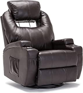 SUNCOO Recliner Chair, Ergonomic Full Body Massage Chairs, 360 Degrees Swivel Heated..