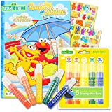Sesame Street Coloring Book Bundle with Stampers - Sesame Street Activity Book Set Featuring Elmo, Cookie Monster, Big Bird and More