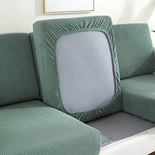 Homeen Funda cojin Sofa,Proteja la Funda del cojín del sofá,Protector de cojín de sofá de Alta Elasticidad,Funda de Asiento de sofá,Funda de Asiento de sofá Jacquard-Verde_4 plazas
