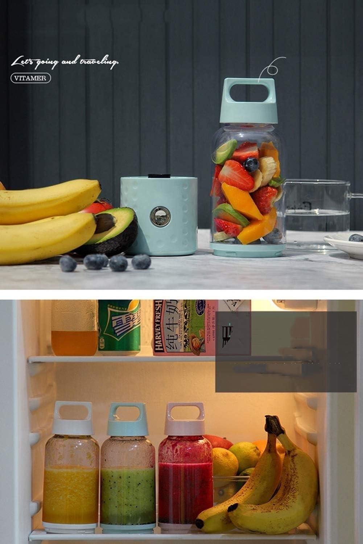 Kylinccj USB Safety Safety Juicer Cup, Mezclador de zumos de Frutas, Mini portátil Recargable/Mezclador de jugos Mezclador de Hielo triturador Mezclador (Color : B) C