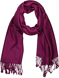 Women's Soft Solid Color Pashmina Shawl Wrap Scarf Wedding Favors Bride Bridesmaid Gifts Evening Dress