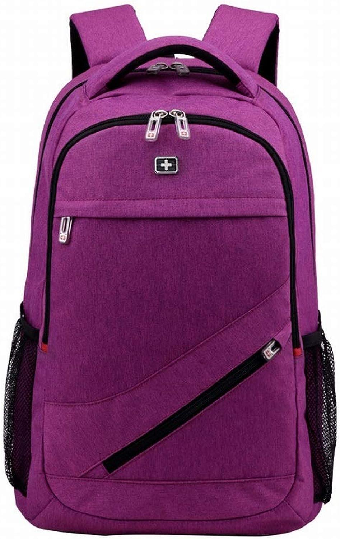Zebuakuade Leinwand Baumwolle Wasserdichte Rucksack Mnner Und Frauen Gymnasiasten Schultasche Reise Computer Rucksack (Farbe   lila)