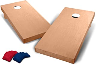 Backyard Champs 2' x 4' Stained Wood Cornhole Set (8 Bags Included)