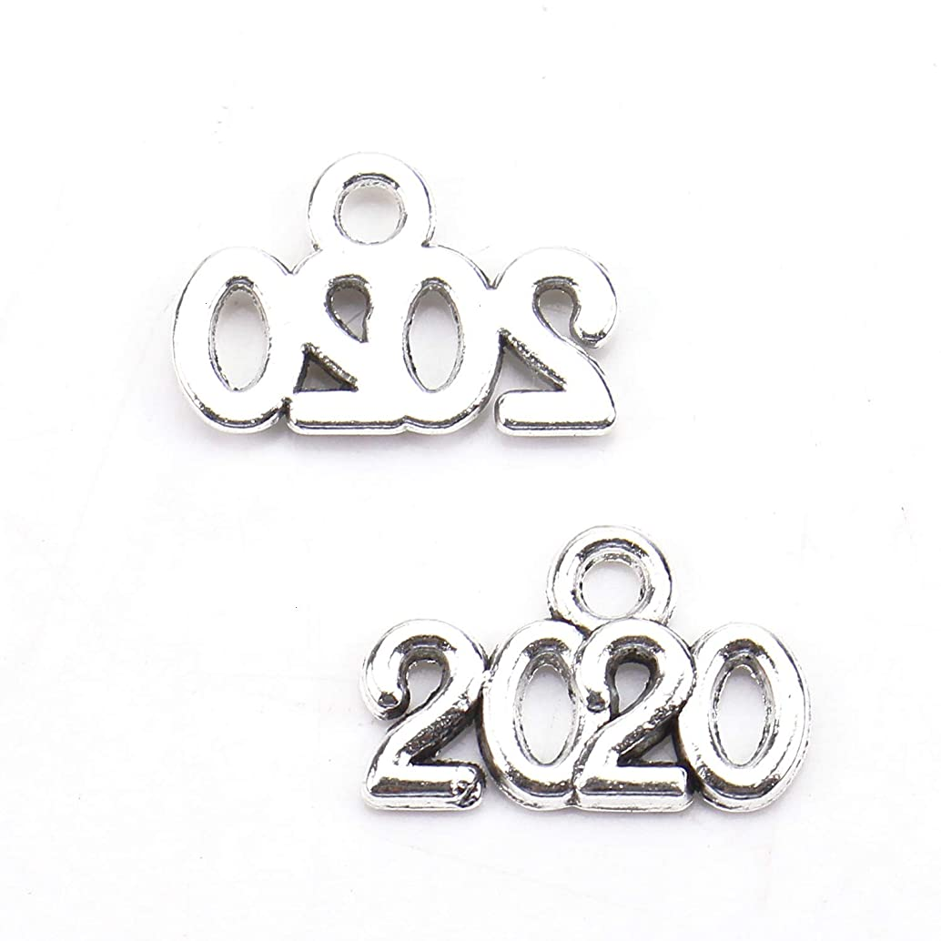 Monrocco 200pcs DIY Year Charms Pendant Charms Pendant for Necklace Bracelet DIY Jewelry Making