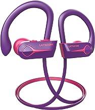 Letscom U8L Bluetooth Headphones, 15Hrs Playtime Wireless 5.0 Earbuds IPX7 Waterproof Sport Running in-Ear Headsets w/Mic ...