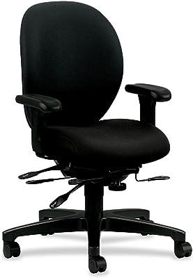 HON Unanimous Mid-Back Chair, Black CU10
