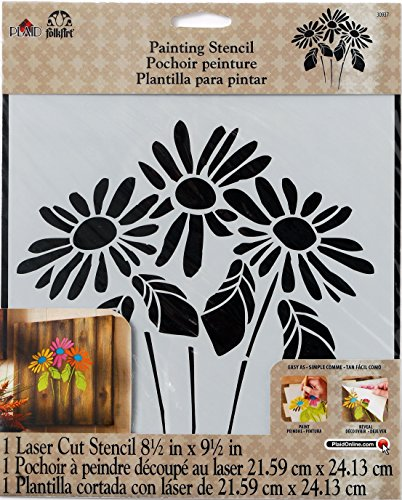 FolkArt Large Painting Stencil, 30937 Lazy Daisy by