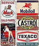 Auto Motocicleta Aceite Gasolina Carteles de metal vintage Cartel retro Gasolina Garaje Taller...