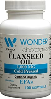 Flax Seed Oil 1000 Mg Certified Organic Cold Pressed Hexane Free Flaxseed Oil is The Worlds Richest Source of Omega-3 Fatt...