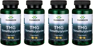 Swanson Tmg Trimethylglycine 500 mg 90 Caps 4 Pack