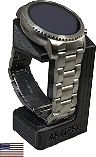 Artifex Design Stand Configured for Fossil Q Explorist, Q Venture Gen 3 Smartwatch (Will not fit 2018 HR Model, Black)