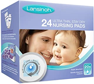 Lansinoh Ultra Thin, Stay Dry Nursing Pads, 24 Count