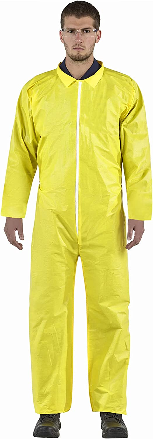 Fresno Mall AMZ Disposable Overall Yellow Adult Free shipping anywhere in the nation Blend Po XX-Large of