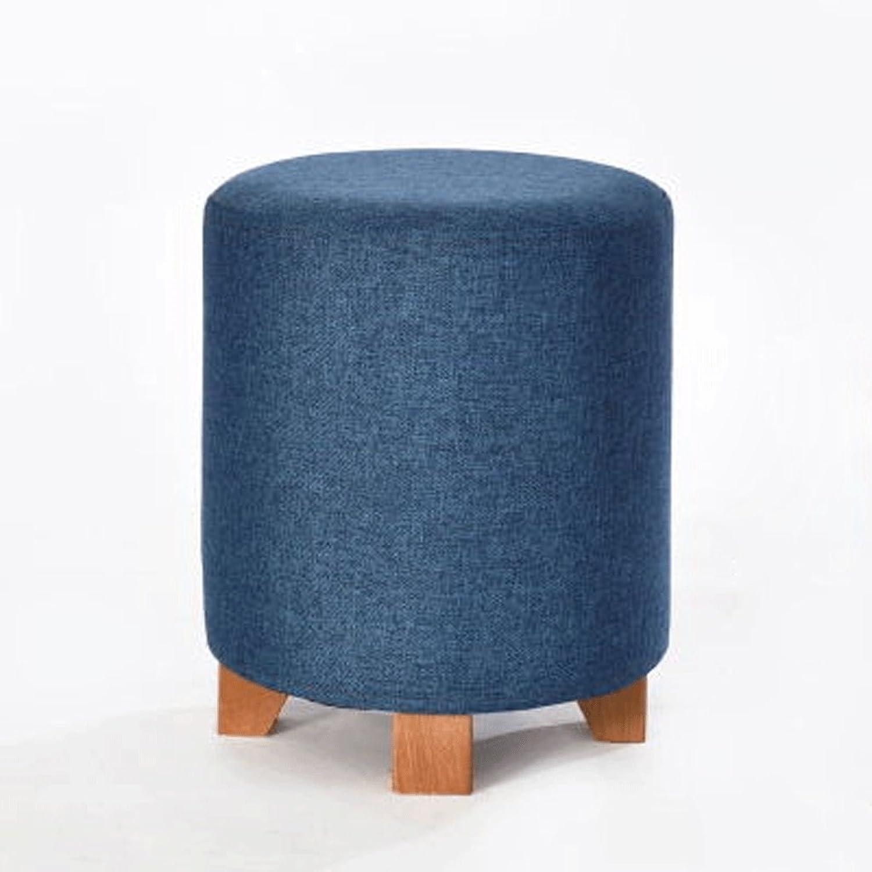 Fabric Stool Stool Stool Sofa Stool Solid Wood shoes Stool Stool Fabric Stool Home Bench Fashion Creative Coffee Table Stool Stool (color   D)