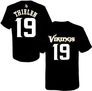 Adam Thielen Minnesota Vikings NFL Youth 8-20 Black Alternate Official Player Name & Number T-Shirt