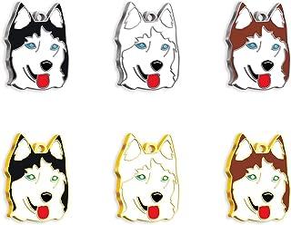 Pet Tag Art Sibirischer Husky, Hundemarke mit Gravur, Hundemarke, Pet ID Tag