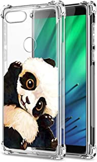 Oihxse Shockproof Case Compatible for Xiaomi Redmi Note 6 Pro Clear Back with Design, Soft Silicone TPU Ultra Thin Slim Fit Chic [Air Cushion] Corners Protection Crystal Transparent Cover(Panda)