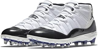 best sneakers d71a9 ea10a NIKE Men s Air Jordan Xi Retro TD Football Cleat White Black Concord (10