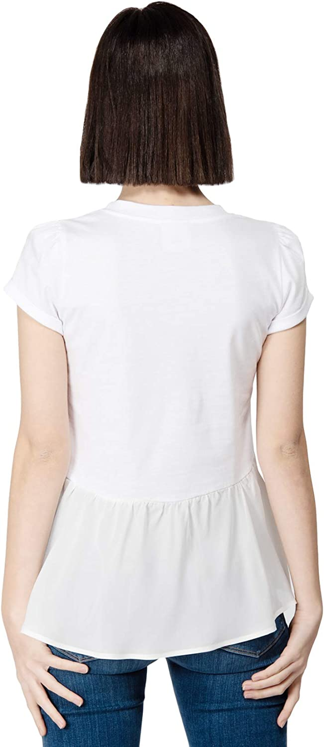 ANIYE BY T-Shirt Rouches Snoopy Short Sleeves Cotton Model 135112 Bianco