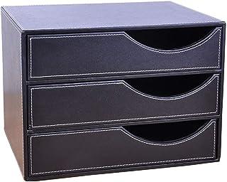 Casiers, étagères et tiroirs Caissons de rangement Boîte De Rangement Boîte De Rangement De Bureau Cuir Créatif De Rangeme...