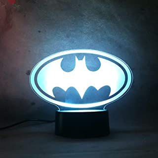 LED Night Light for Baby 7 Color Change Remote Control Smart Lamp Mavel Legend Batman Toy Action Figure Sleep Lamp for Kid