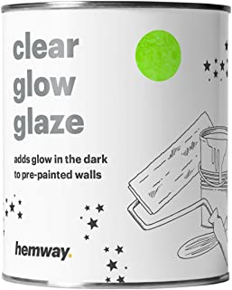Hemway   Clear Glow in the Dark Paint Glaze 1L for Painting Walls Ceilings Bedrooms