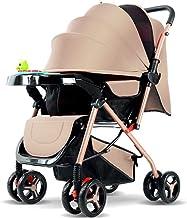 gao Sillas De Paseo Sillas De Paseo Carro De Bebé Sentarse Portátil Bebé Recién Nacido Plegable Carro De Bebé De Cuatro Ruedas,Brown