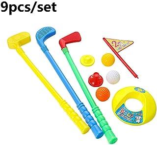 Deyan Juego de Juguete de Golf de plástico para niños, Juego Educativo para niños, Juguetes Deportivos Divertidos al Aire Libre, Kit de Pelota de Golf Creativo para Juguetes para Padres e Hijos
