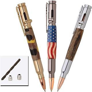PSI Woodworking PKCPBAPAK 30 Caliber Bolt Action Bullet Cartridge Ballpoint Pen Kit Starter Package Woodturning Project