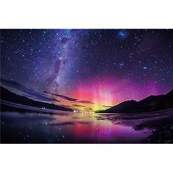 1000ピース ジグソーパズル KAGAYA 銀河の果ての南極光(ニュージーランド)【光るパズル】(50x75cm)