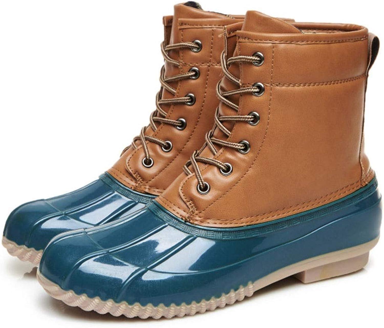FXNN Rain Boots - Fashion Waterproof Non-Slip Tube Boots rain Boots