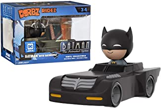 Funko Batman w/ Batmobile (DC Legion of Collectors) Dorbz Ridez Vinyl Figure & 1 Official DC Trading Card Bundle (00021)