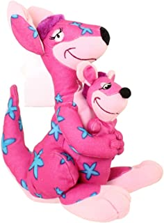 """Retire Disney It's a Small World 9"""" Kangaroo and Baby Joey Plush Bean Bag Doll with Tags"""