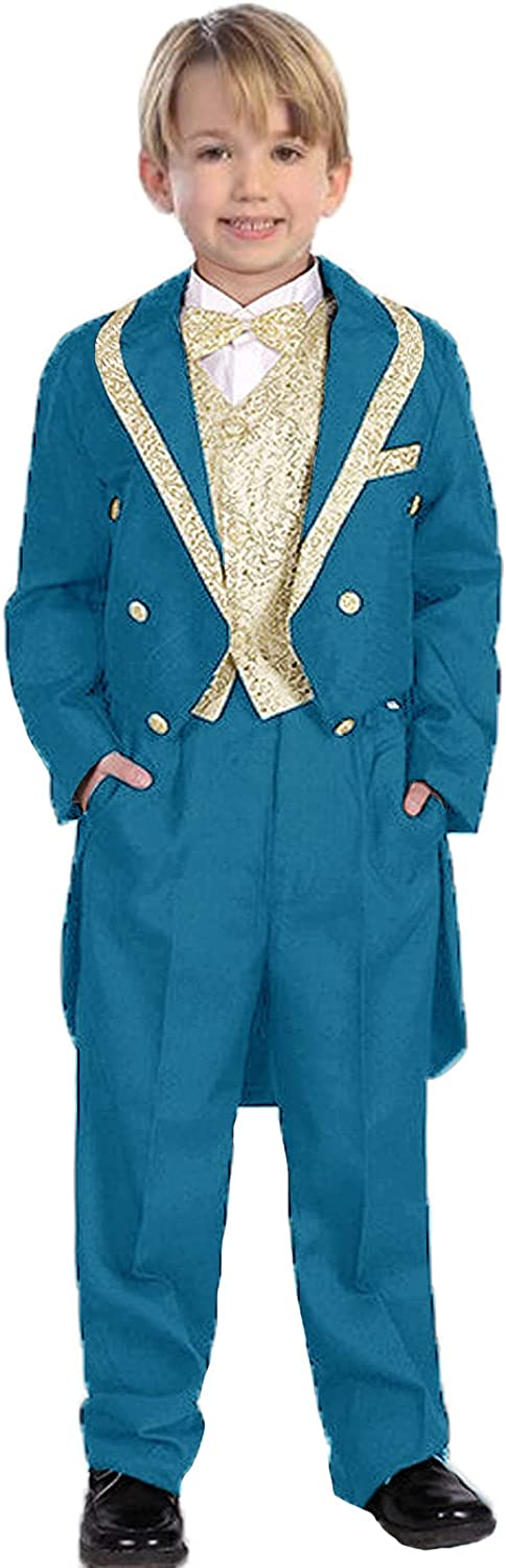 Boys Classic Tuxedo with Albuquerque Mall Tail 3 Shawl Outf Bear Piece 67% OFF of fixed price Ring Lapel