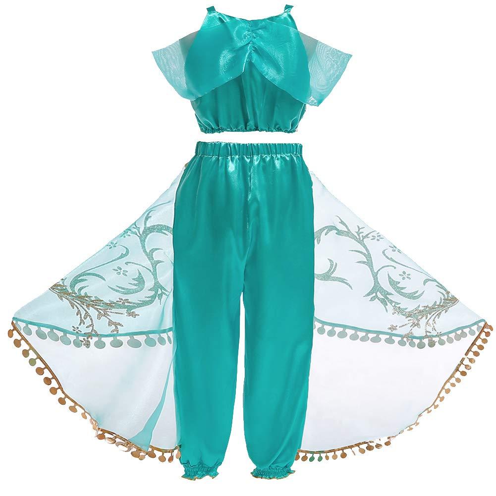 vap26 - Disfraz de Princesa Jasmine de Dos Piezas para Halloween ...